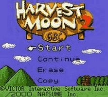 Harvest Moon GBC 2 Title Screen